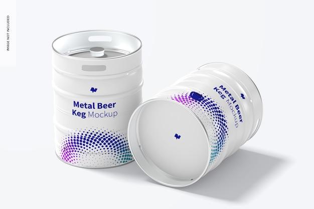 Metalen biervaatjes mockup