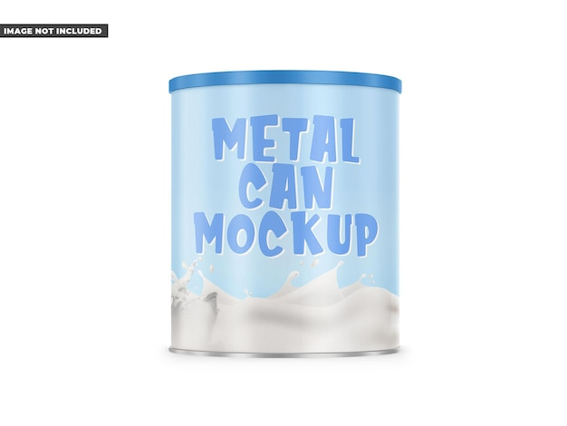 Metalen blikje mockup