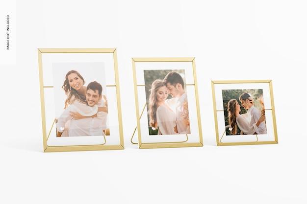 Metalen fotolijsten set mockup