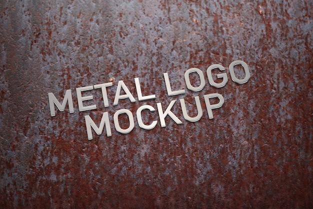 Metalen logo mockup