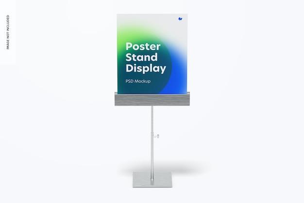 Metalen posterstandaardweergave mockup