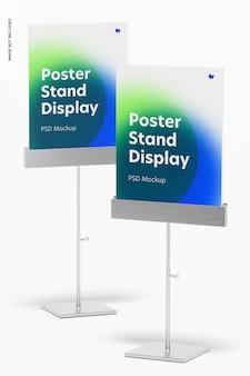 Metalen postertribunes display mockup