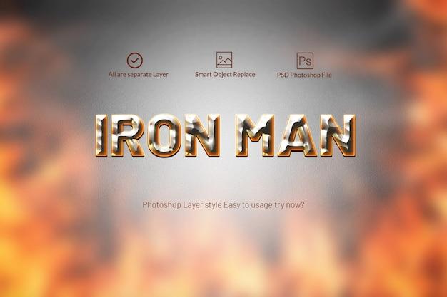 Metalen teksteffect in tekst