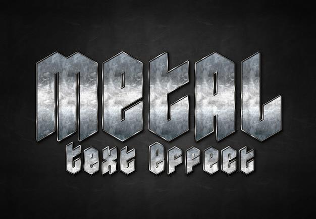 Metalen teksteffect