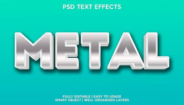 Metalen teksteffecten sjabloon