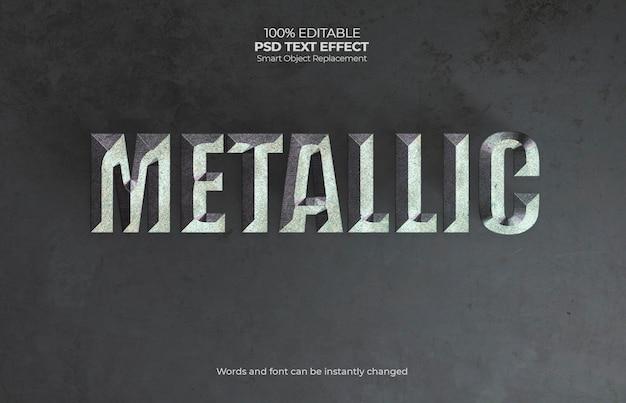 Metalic teksteffect