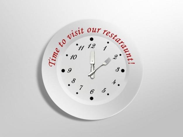 Metálico reloj perfecto para restaurantes.