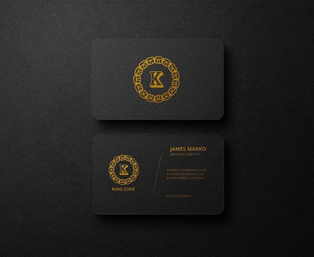 Metallic folie luxe zwart visitekaartje