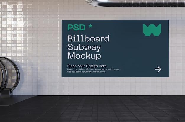 Metro uithangbord mockup