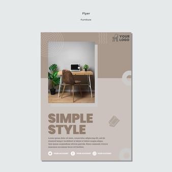 Meubels concept folder sjabloon