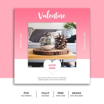 Meubels valentine banner social media post