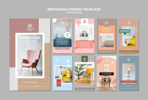 Meubelwinkel instagram verhalen sjabloon