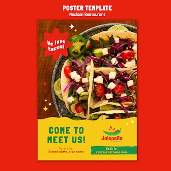 Mexicaans restaurant poster