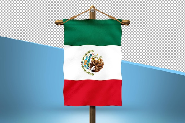 Mexico hang vlag ontwerp achtergrond