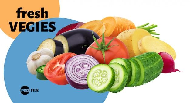 Mezcla de diferentes verduras