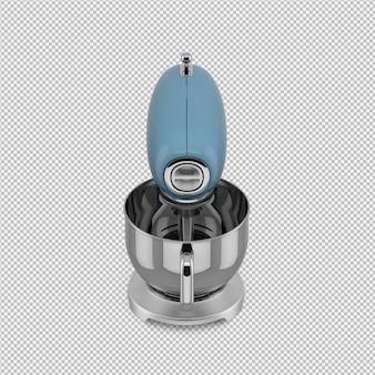 Mezclador isométrico 3d aislado render