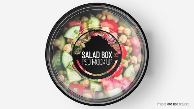 Mezcle caja de ensalada con capa