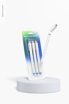 Micro-pen blistermodel