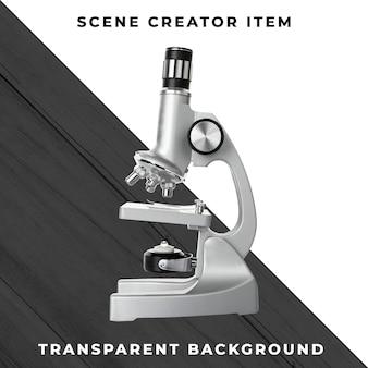 Microscopio aislado con trazado de recorte
