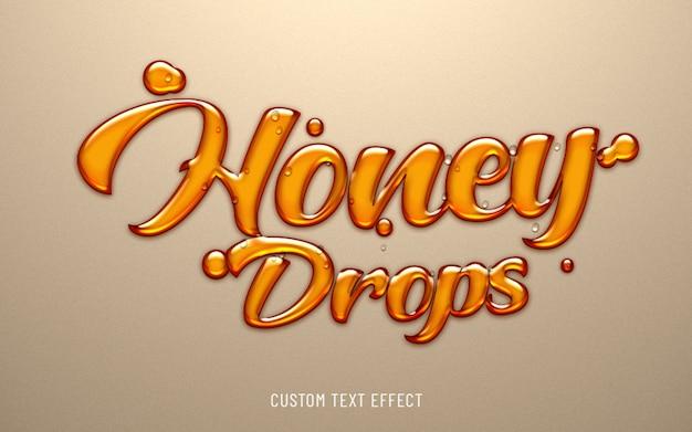 Miel cae efecto de texto líquido