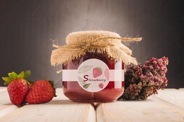 Miel orgánica con sabor a fresa.
