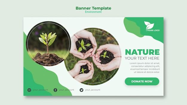 Milieu banner sjabloon concept