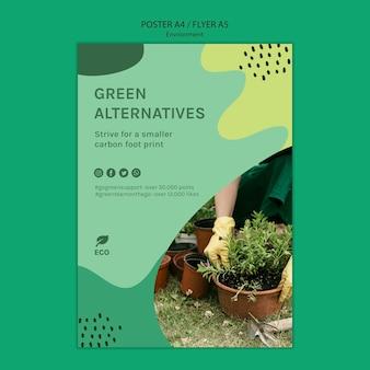 Milieu concept poster sjabloon