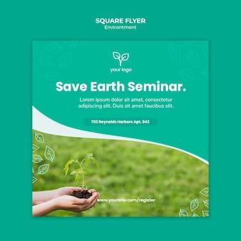 Milieu concept voor sjabloon folder