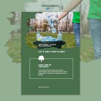 Milieu zorg voor de aarde-poster