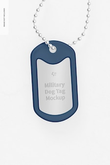Militaire dog tag mockup, opknoping