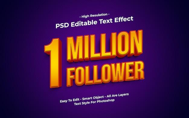Miljoen volger teksteffect