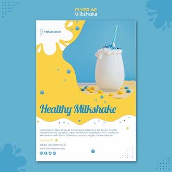 Milkshake flyer sjabloon thema