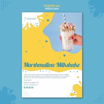 Milkshake poster sjabloon thema