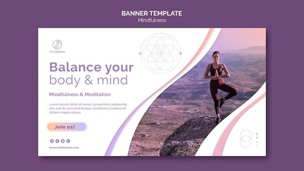 Mindfulness concept sjabloon voor spandoek