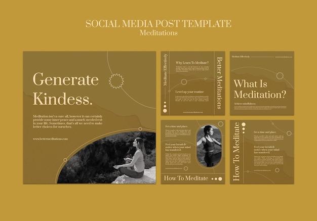 Mindfulness concept social media bericht