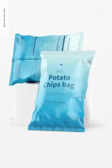 Mini aardappelchips zakken mockup