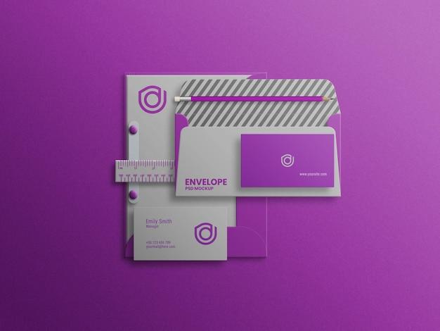 Mini archivo de maqueta de juego de papelería