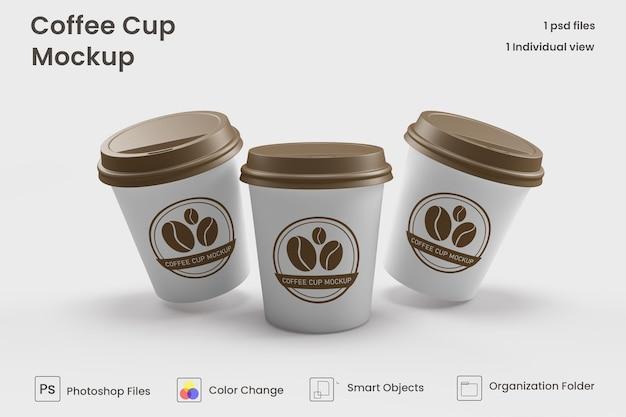 Mini maquetas de taza de café premium psd