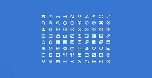 Mini pictogrammen psd + icoon lettertype