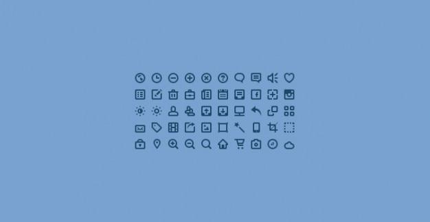 Mini pictogrammen psd