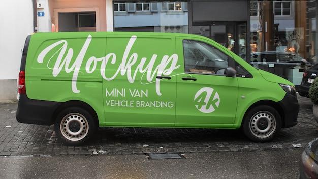 Mini van vehículo maqueta