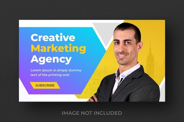 Miniatura de video de youtube para negocios creativos de marketing digital