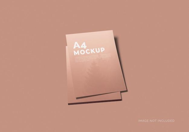Minimaal a4 psd flyer mockup-ontwerp