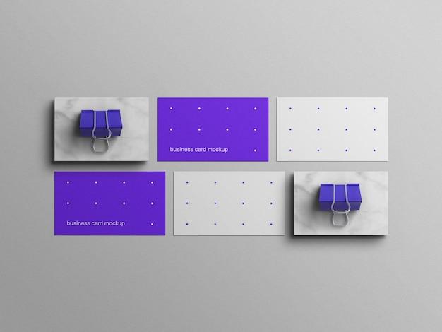 Minimaal blauw visitekaartjemodel