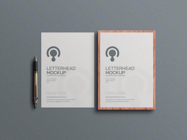 Minimaal briefpapiermodel
