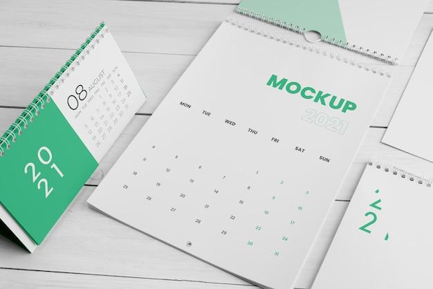 Minimaal kalendermodel-assortiment
