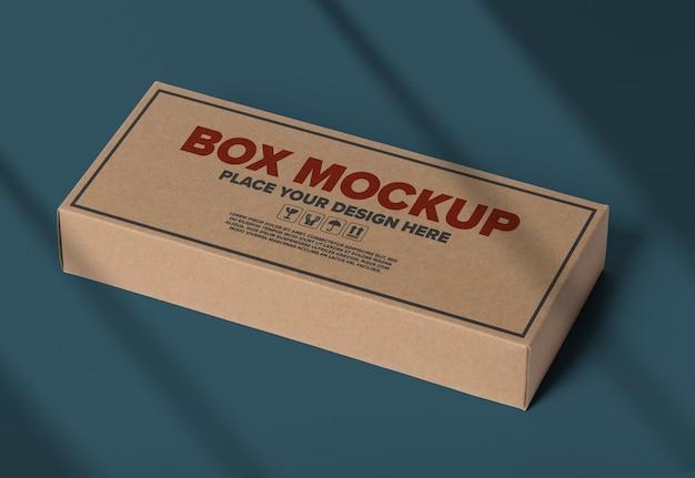 Minimaal logo mockup op doos