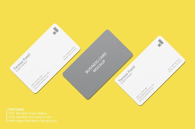 Minimaal mockup-ontwerp voor visitekaartjes