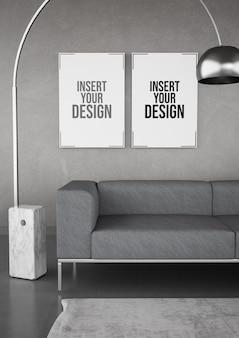 Minimaal modern interieur