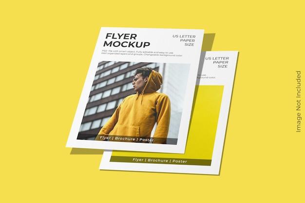 Minimaal ons letter flyer mockup-ontwerp